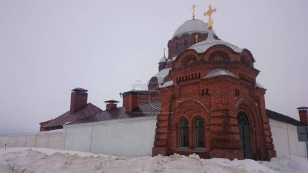 Cathedral of the Icon of the Mother of God Joy of All Who Sorrow 1906 in Sviyazhsk island, Russia.