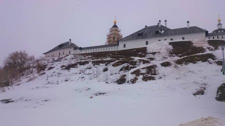 View of the city-island Sviyazhsk in the winter.