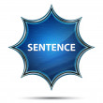 Sentence Isolated on magical glassy sunburst blue ...