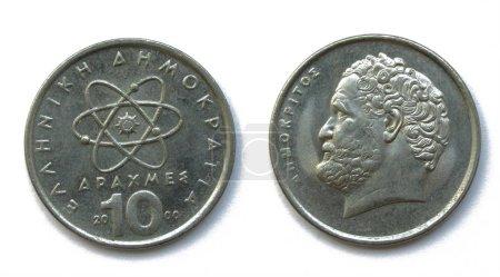 Greek 10 Drahmas copper-nickel coin 2000 year, Gre...
