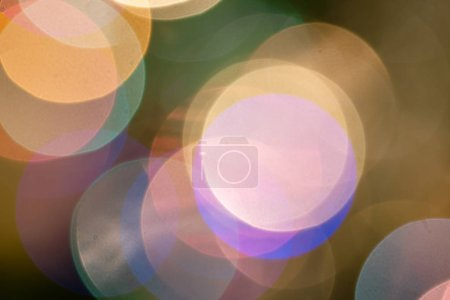 Abstract Christmas lights bokeh background