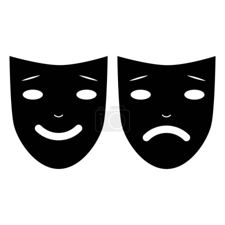 Photo for Human mask is sad and happy - Royalty Free Image