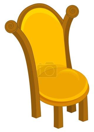 cartoon brown throne close up