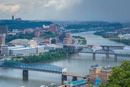 Bridges over the Monongahela River, in Pittsburgh, Pennsylvania