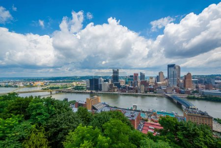 View of the Pittsburgh skyline and Monongahela River, from Mount Washington, Pittsburgh, Pennsylvania