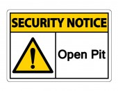 Security Notice Open Pit Symbol Sign On White BackgroundVector Illustration