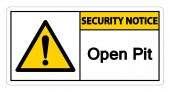 Security Notice Open Pit Symbol Sign Isolate On White BackgroundVector Illustration EPS10