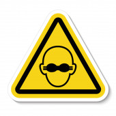 Symbol Wear Opaque Eye Protection Sign Isolate On White BackgroundVector Illustration EPS10