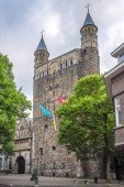 View at the facade of Basilica Our Lady in Maastricht, Netherlands