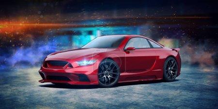 Photo pour Rendu 3D d'un concept-car générique sans marque - image libre de droit