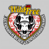 wild and free skull and slogan vector hand drawingShirt designs biker disk jockey gentleman barber and many othersisolated and easy to edit Vector Illustration