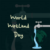 World Wetland Day faucet that drains water