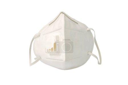 Masque de poussière taille PM 2.5 sur fond blanc. (avec chemin de coupure ).