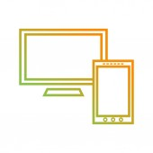 Beautiful Screens vector line icon