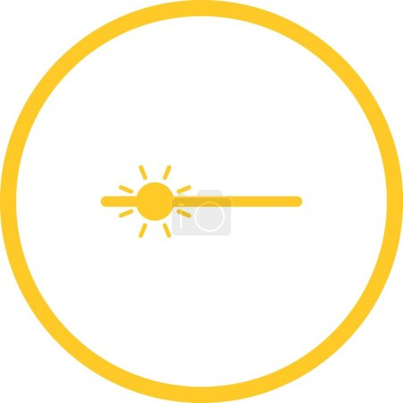 Illustration for Unique Brightness Vector Glyph Icon - Royalty Free Image