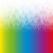 Rainbow colored misty and mystic background with white pendant translucent bank of haze Spectral colors square format vector illustration