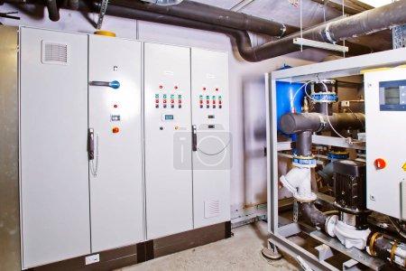 Photo pour Compresseur industriel pour chambre de réfrigération. - image libre de droit