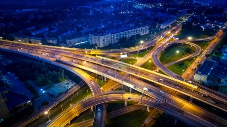 St. Petersburg. Russia. Road junction. Highway. Road