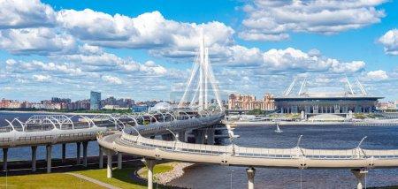 Saint-Petersburg. Russia. Road network of St. Petersburg. Wester