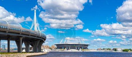 Saint-Petersburg. Russia. Roads of St. Petersburg. Expressway in