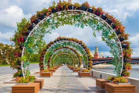 Photo for Moscow. Russia. Prechistenskaya embankment. Hiking tours of the capital. Embankment in Moscow. Arch on the waterfront. Streets of Moscow. Tours to the capital of Russia. Cities of Russia. - Royalty Free Image