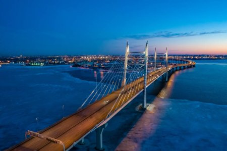 Saint Petersburg in the evening. Roads of Russia. Rivers Of Pete