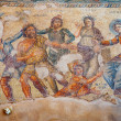 Antique mosaics in the city of Paphos. Cyprus. Arc...