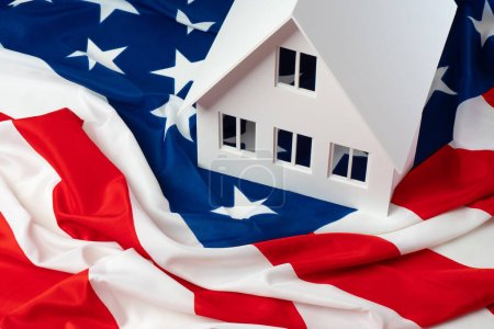 Photo for America. Emigration to the USA. Buying real estate in America. Green card draw. Buy a house in the USA.Real estate for rent in the United States. Green card for USA.Homes for sale in the United States - Royalty Free Image