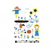Little garden poster Farm graphics Vector illustration