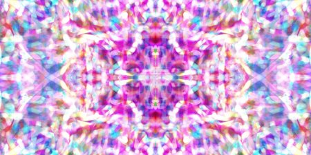 Symmetry and reflection. Light effects. Neon glow. Abstract blurred background. Colorful pattern. Texture.