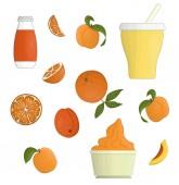 Vector yoghurt and fruit illustration