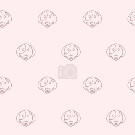 Illustration for Wrapping paper - Seamless pattern of symbols dog for vector graphic design - Royalty Free Image