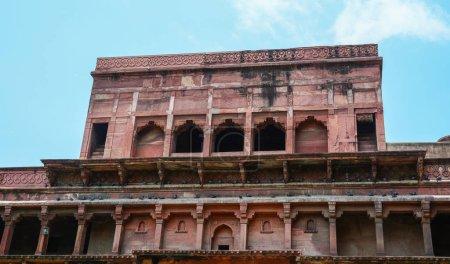 Photo pour Bâtiment grès du Fort d'Agra à Agra (Inde) - image libre de droit