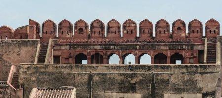 Photo pour Partie du Fort d'Agra à Agra (Inde). Le fort est un site du patrimoine mondial de l'Unesco - image libre de droit