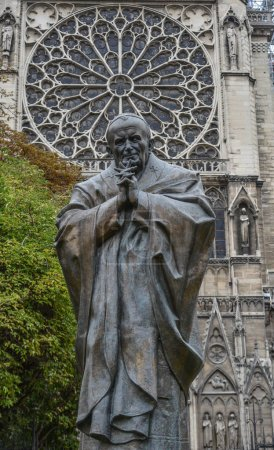 The Statue of Saint (Pope) Jean-Paul II, near the ...