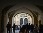 Prague, Czech - Oct 26, 2018. Tourists visit the Praha Castle (Czech Republic). The castle is among the most visited tourist attractions in Prague.