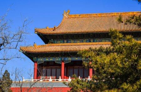 Photo pour Un ancien bâtiment de la Cité Interdite à Pékin, Chine . - image libre de droit