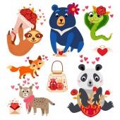 Big Valentines Day set a cartoon characters