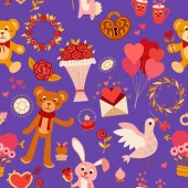 Seamless pattern with love elements Vector illustration