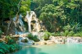 Kuang si Waterfall in Luang Prabang. Laos. 2019 Landscape