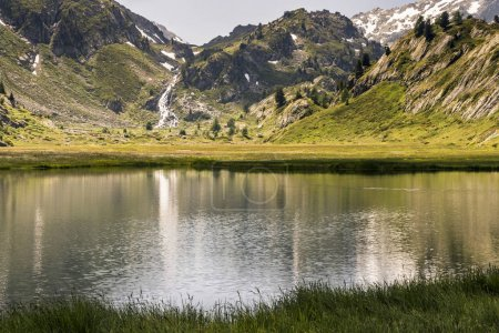 Photo for Amazing landscape with picturesque lake in mountain valley - Royalty Free Image