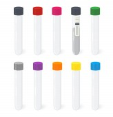 Colorful vacutainer for blood analisis