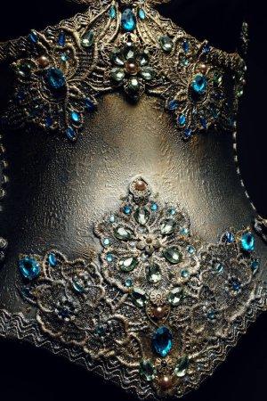 creative golden glitter costume