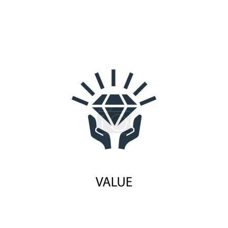 Illustration for Value icon. Simple element illustration. value concept symbol design. Can be used for web and mobile. - Royalty Free Image