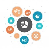 market segmentation Infographic 10 steps bubble designdemography segment Benchmarking Age group icons