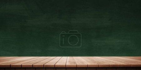 Colorful wooden platform background: blackboard/ch...