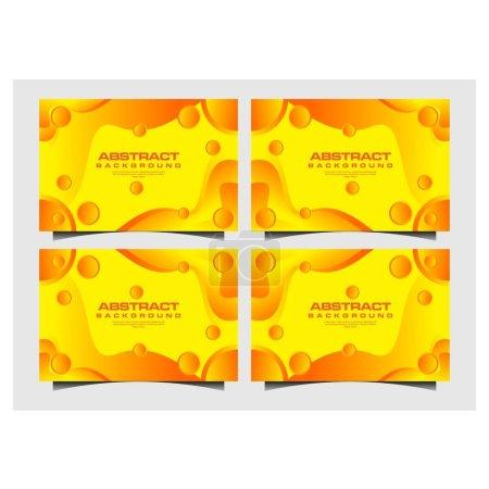 Foto de Fondo abstracto amarillo con formas de arte de papel. - Imagen libre de derechos