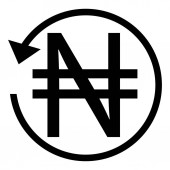 Refund sign NIGERIA NAIRA currency Circle arrow sign