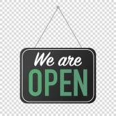 we are open sign for door posting