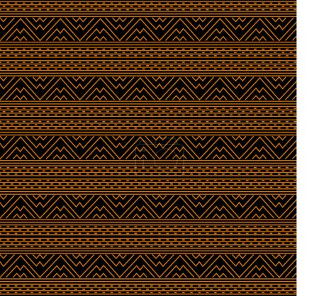 Illustration for African traditional ornament. Seamless pattern with geometric ornament. Ancient traditions. Vector. - Royalty Free Image